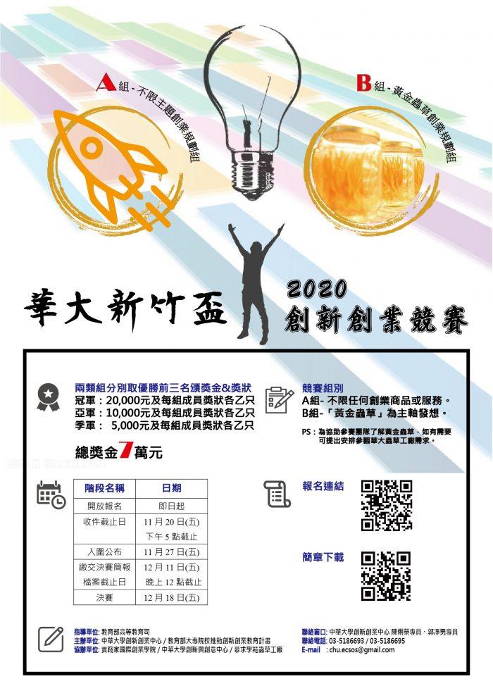 2020華大新竹盃創新創業競賽海報 (3)(2)